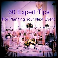 30 event & wedding planning tips from event planning experts