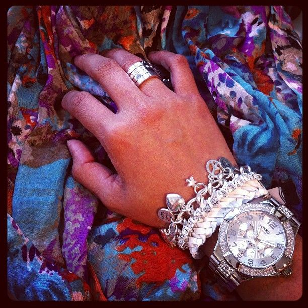 More beauties by OXXO Design! Scarf, rings, bracelet and watch ❤️ - @mizelle_precious_pieces- #webstagram