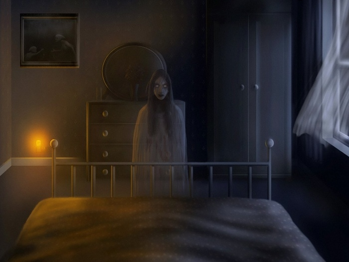 17 Best images about Spooky Creepy and Scary on Pinterest The exorcist Dark  art and Scary. Creepy Bed