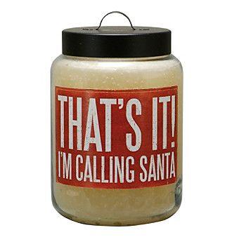 Primitives by Kathy 26-oz. Calling Santa Candle