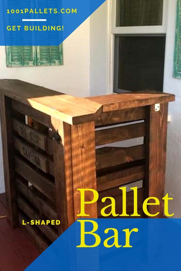 L Shaped Pallet Bar Uses Small Areas Perfectly Pallet Furniture