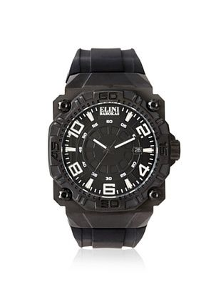 79% OFF Elini Barokas Men's 10318-BB-01WA Comanche Black Silicone Watch