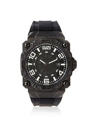 79% OFF Elini Barokas Men's 10318-BB-01WA Comanche Black Silicone Watch