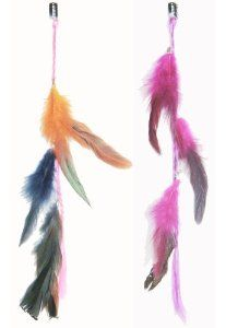 2 X Colored Feather Hair Extensions Grizzly Hair Extension Clip in on Beauty Salon Supply Wholesale Lot New by opt. $5.99. Material: Colored Feather. 2 X Colored Grizzly Feather Hair Extensions Clip In On Beauty Salon Supply Wholesale Lot New. Length: about 14 (35cm). Package Includes: 2 pieces dyed Natural Feathers hair extensions.. User Friendly: Make your own hair style.. Real Natural Feather Hair Extensions Clip In On . Make your own hair style. Package Includes: 2 ...