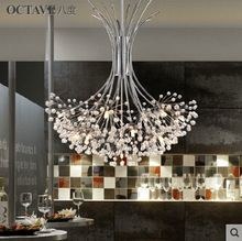 Modern Crystal Chandelier Dandelion LED Crystal Light With Tree Lampshade For Sitting Room Home Decorative Light Fixture(China (Mainland))