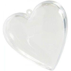 Coeur transparent 8 cm à 0.52 €, Coeur plexi transparent pas chère, Coeur à dragées transparent, contenant à dragées, baby shower, déco, baptême, mariage, anniversaire, fêtes.