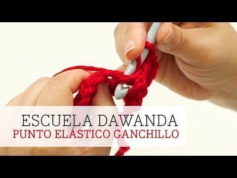 Cómo tejer punto elástico al crochet / Aprende crochet   Patrones para Crochet
