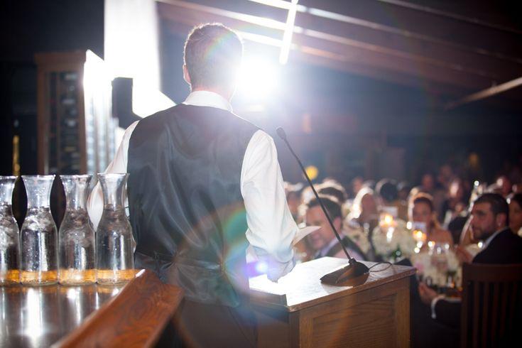 Ancaster Mill wedding reception speeches