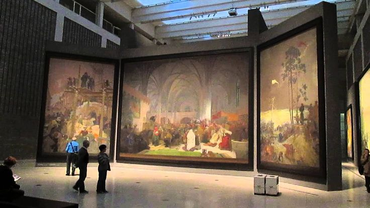 Alphonse Mucha - The Slav Epic - a cycle of 20 wide paintings narrating the Slavic Historia (1910-1928) - Trade Fair Palace, Prague