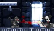 DEMAZE.IT - Giochi Online - Teen & Kids Games: Questa volta gli animatori della serata sono dei clan senza scrupoli, la loro missione sarà quella di ucciderti. Raggiungi la discoteca dove si trova il loro capo e cerca di ucciderlo. Fai attenzione ai suoi scagnozzi e agli altoparlanti in alto che mandano proiettili.