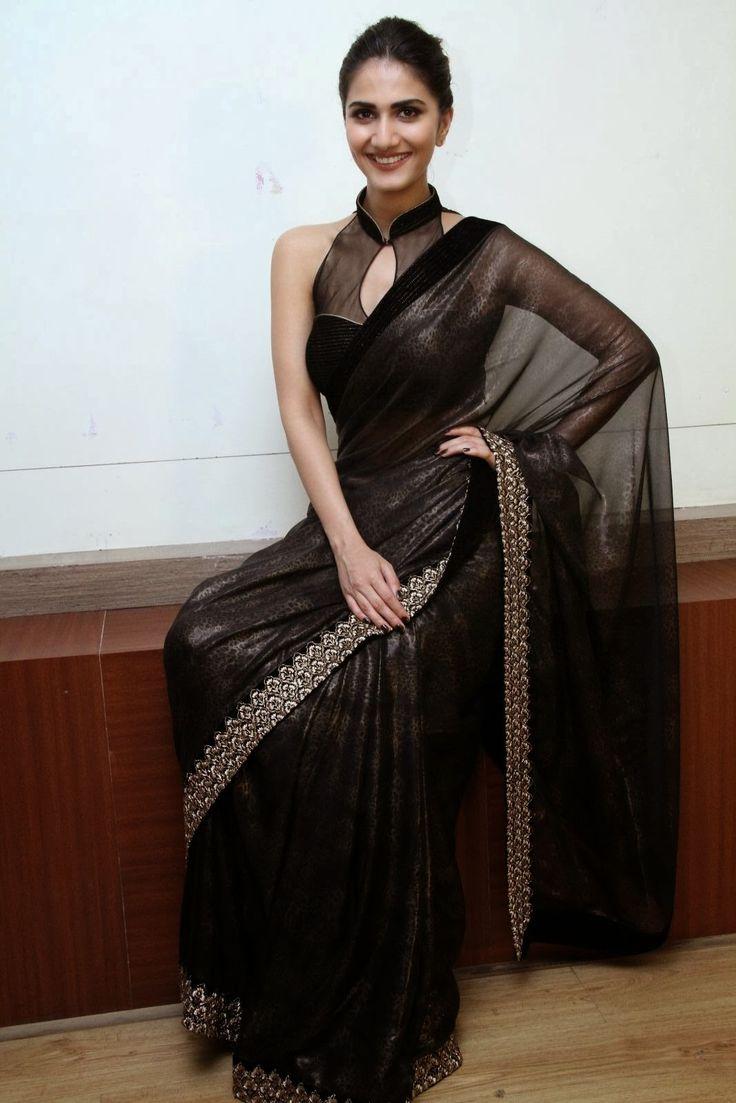 Vaani Kapoor in Black saree #saree #sari #blouse #indian #outfit #shaadi #bridal #fashion #style #desi #designer #wedding #gorgeous #beautiful