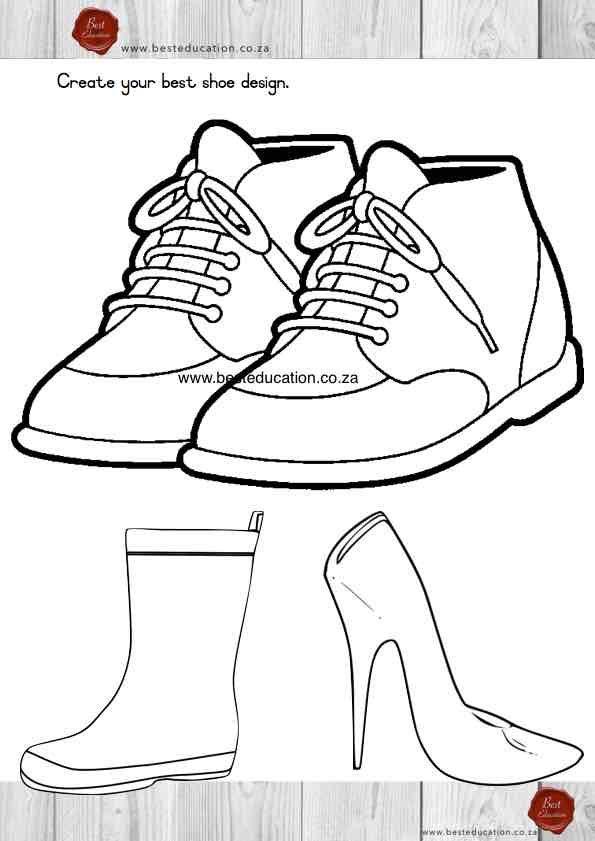 Shoe design Grade 6 Art - www.besteducation.co.za