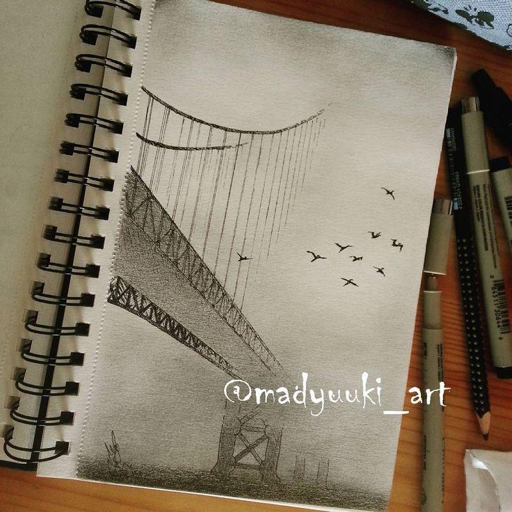 Bridge by @madyuuki_art   https://instagram.com/madyuuki_art/ http://yuki-chan-xdxd.deviantart.com/   #madyuuki_art #bridge #road #bird #fog #foggy #architecture #drawing #drawings #building #buildings #landscape #art #artist #pencil #pencildrawing #micron #polishartist #good #artdrawingg #art_spotlight #sketch #sketchbook #arqsketch #bestoftheday #bestdrawing #instagood #poland