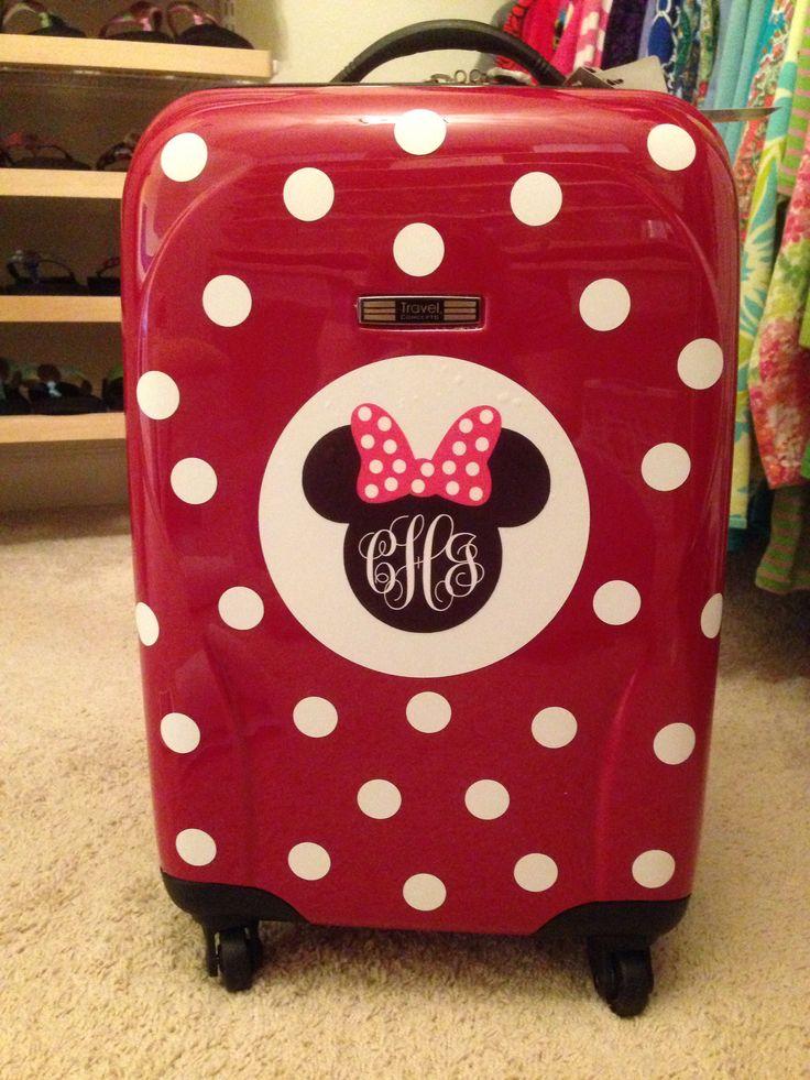 DIY - Disney Suitcase!  Minnie Mouse monogram