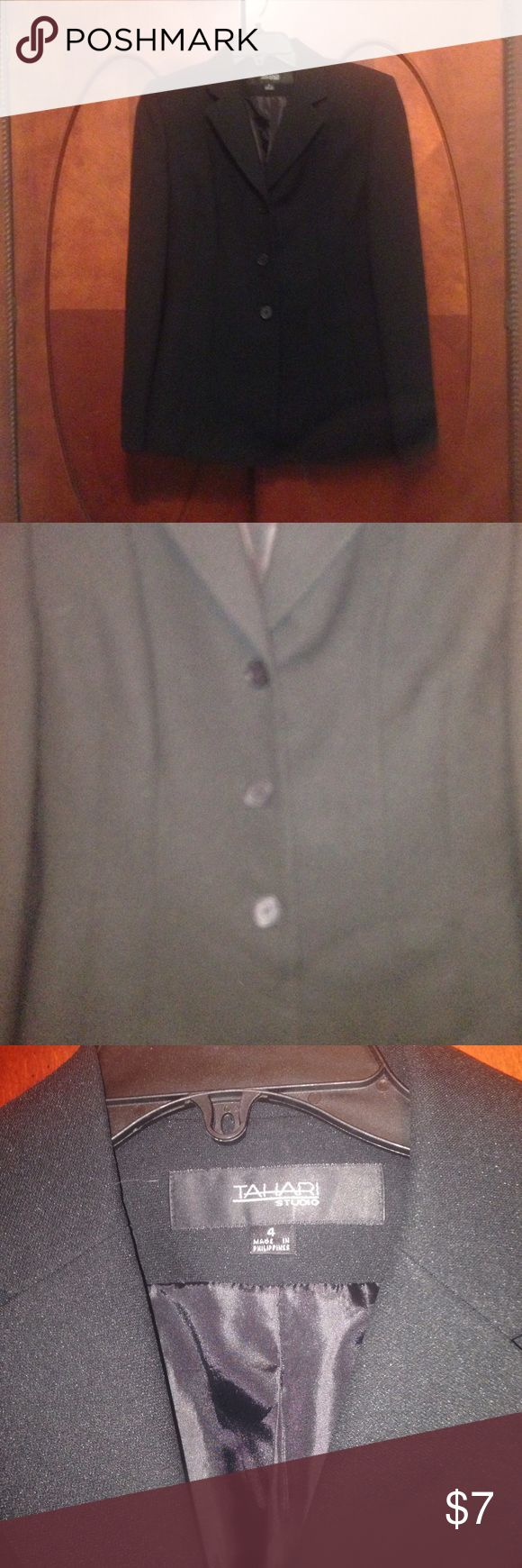 Black suit jacket Size 4 Black suit jacket Size 4 worn once excellent condition Tahari Woman Jackets & Coats Blazers