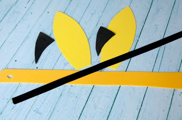 How to Make Pikachu Ears: Pokemon Party Activity Materials:  Yellow foam sheets in 9×12 size  Black foam sheet  Black ribbon  Glue Stick  Pikachu ear template