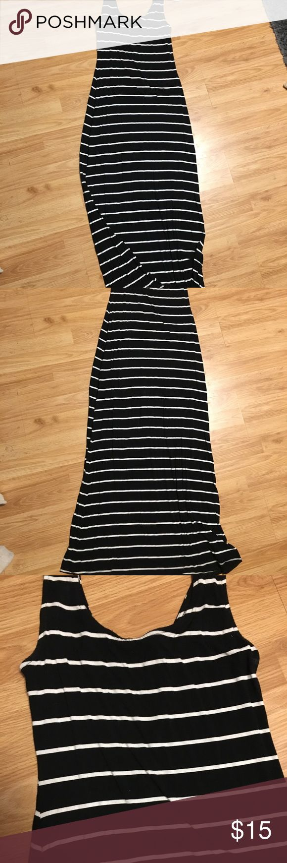 Black and white stripe maxi dress Black and white stripped maxi dress. Super comfortable! Like new - worn once Merona Dresses Maxi