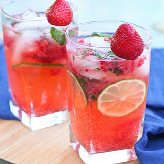 Strawberry mojito cocktail is excellent rum based mixed drink.Very easy to prepare!