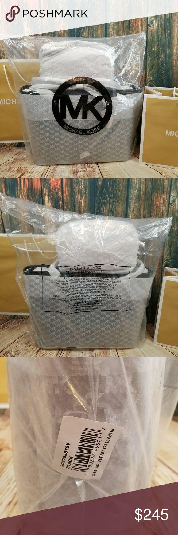 Michael Kors Jet Set Chain Handle Tote Beautiful chain handle tote in Black. Michael Kors Bags Totes