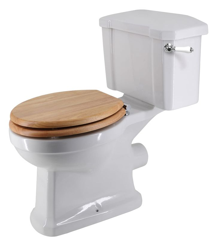 Holborn Close Coupled Toilet with Wooden Quick-Release Seat
