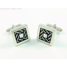 Celtic Inspired Square Cufflinks - Imported directly from the maker in Scotland these cufflinks are timeless.  If you enjoy wearing the kilt or want something that is different then look no further.