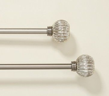 Glass Curtain Rod Finials Glass Finial Pottery Barn