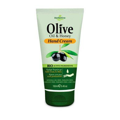 HerbOlive Hand Cream with Olive Oil and Honey 150ml/5.07 oz. (New)