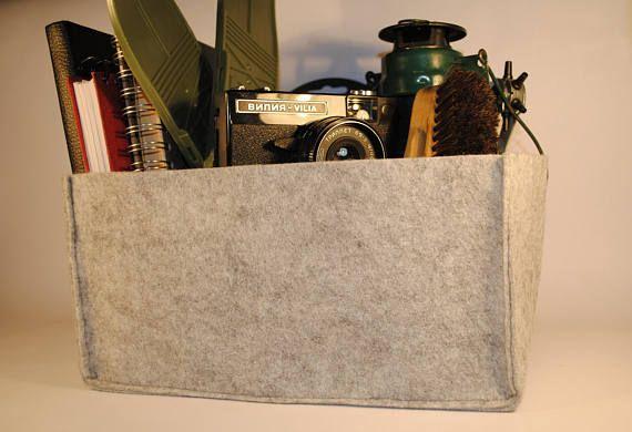 Grande deposito casella tabella del feltro scrivania cestino titolare organizzatore Hand Made minimalista Design minimale ufficio disegno industriale Hipster rustico Art Deco