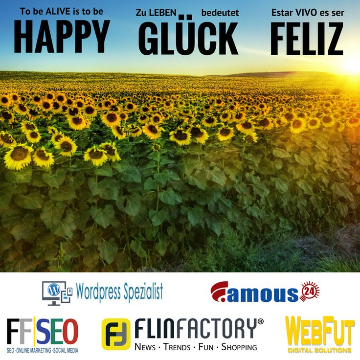 Be happy! Se feliz! Sei gl�cklich!