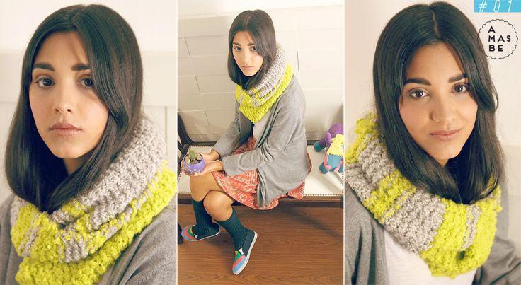 Catalogo AMASBE INVIERNO 2015 + cuello tejido a mano +   winter catalogue