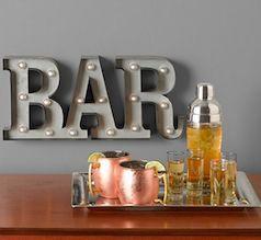 Love this bar set up