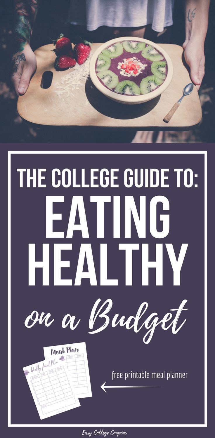 Healthy College Eating   Budget Tips   Free Printable