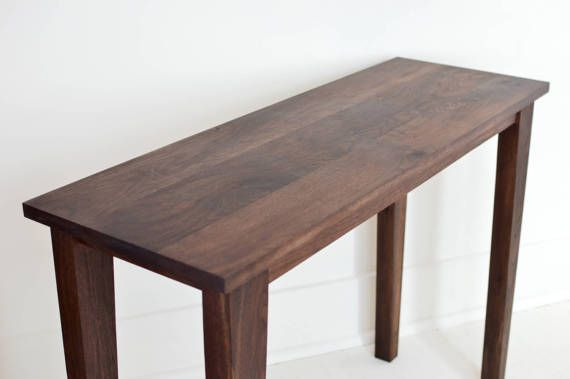 Modern Walnut Console Table  Wood Table  by ShadyMapleWoodworks