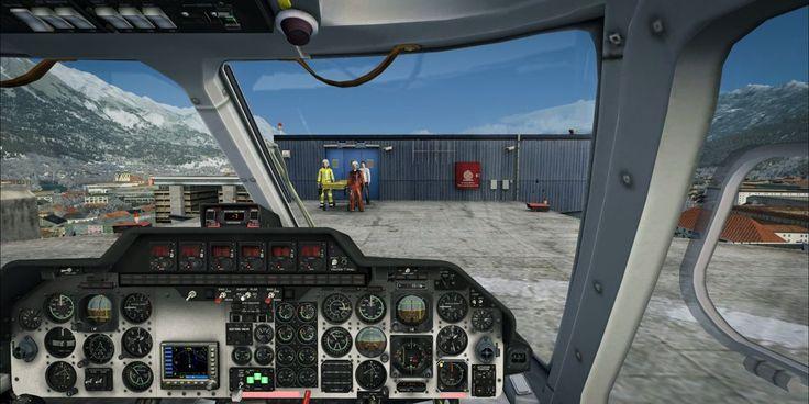 Hospital helipad in Innsbruck. Bell 222.