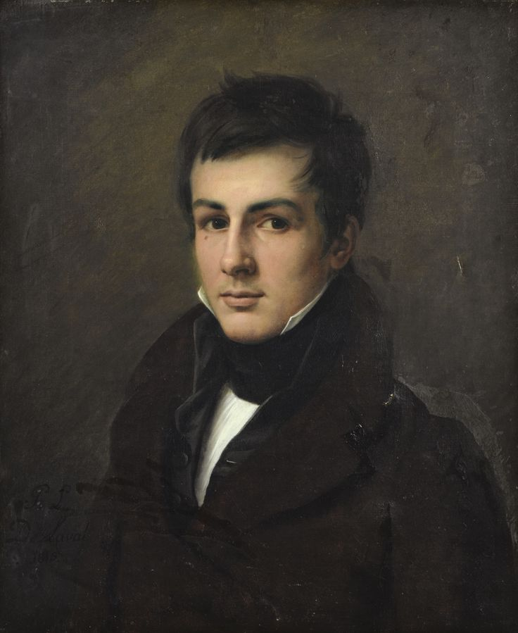 Portrait d'Edouard Bertin.1815. Oil on Canvas. 66 x 54.5 cm Art by Pierre-Louis de Laval.(1790?-1870?).
