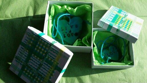 Cadeau-doosjes met karton en Washi