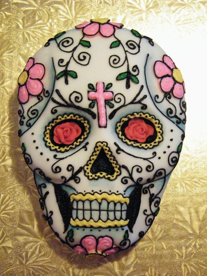 sugar skull cakes | Day of the Dead/Dia de los Muertos/Sugar Skull cake — Other Holidays