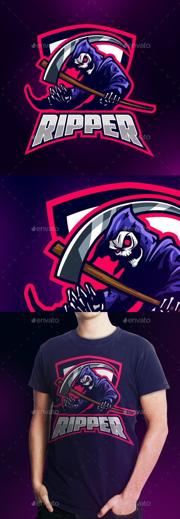 Esports Grim Reaper Logo (Dengan gambar)
