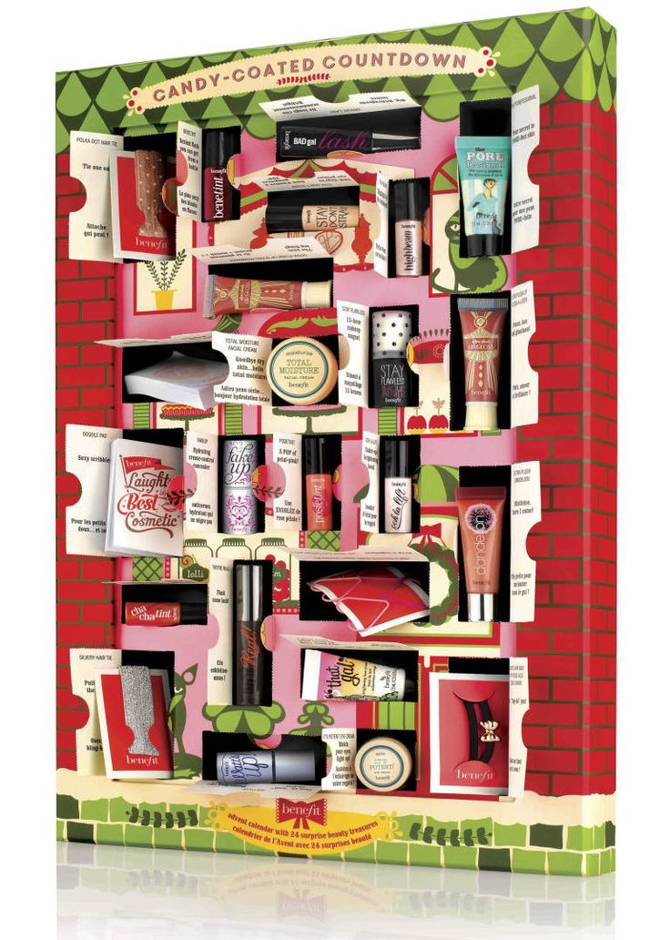 I WANT! A Benefit beauty advent calendar, anyone?! http://www.cosmopolitan.co.uk/beauty-hair/news/a29772/beauty-advent-calendars-2014/