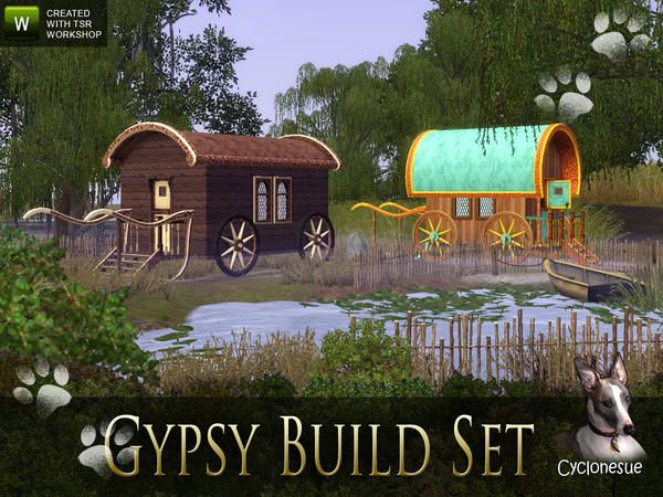 Cyclonesue's Build your own playable Gypsy Wagons