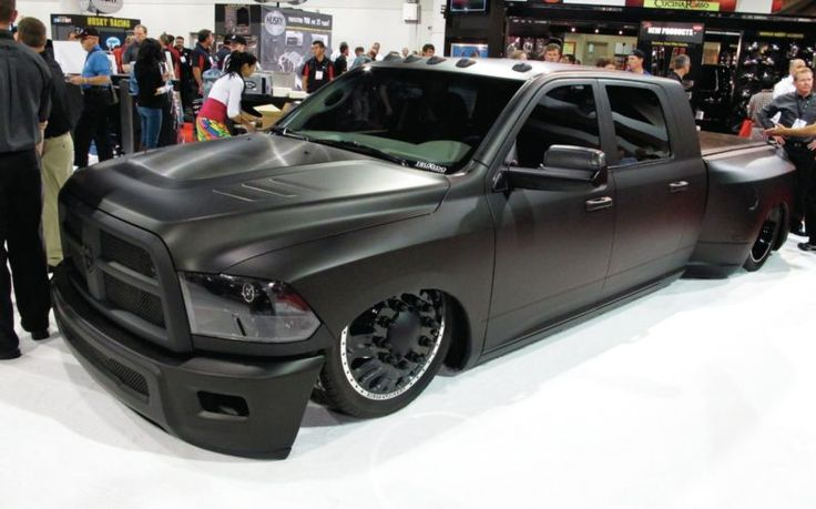 Dodge ram blacked out ram dually pickup truck lowered body mods pinterest dodge rams