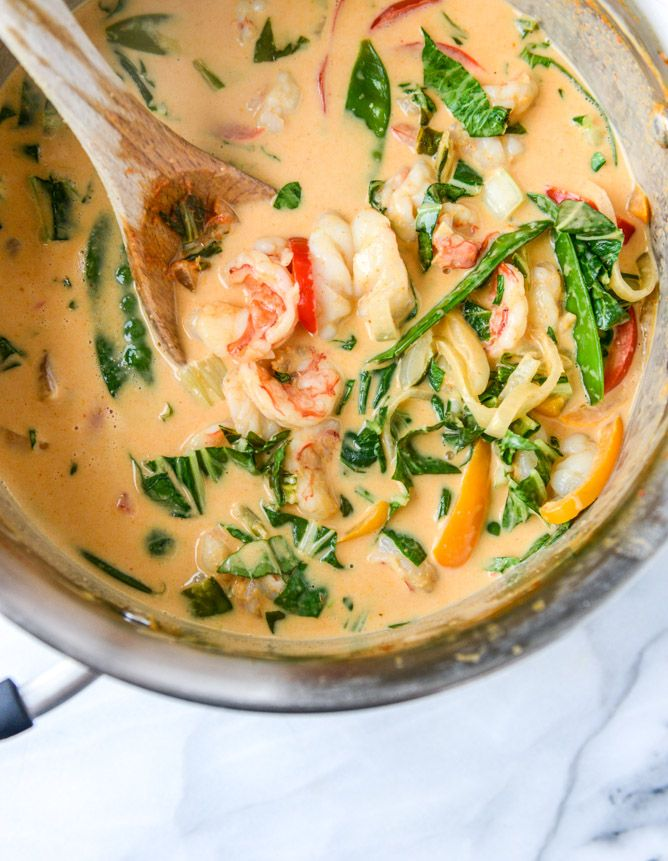 Thai Coconut Curry Shrimp Recipe — Dishmaps