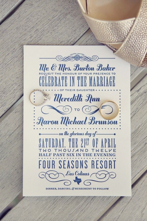 adorable invitations with a vintage poster feel