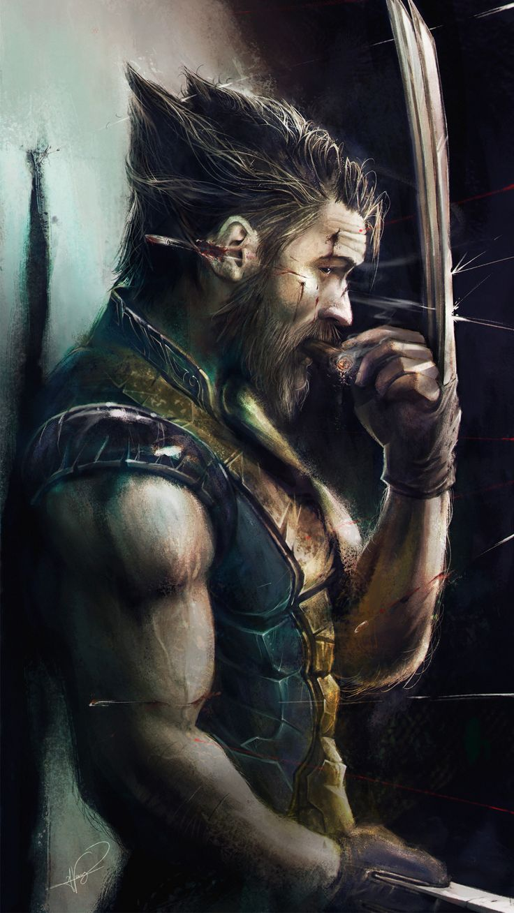 "comics-station: "" Tom Hardy as the Wolverine by Jimmy Vong Follow The Best Comics Artwork Blog on Tumblr """