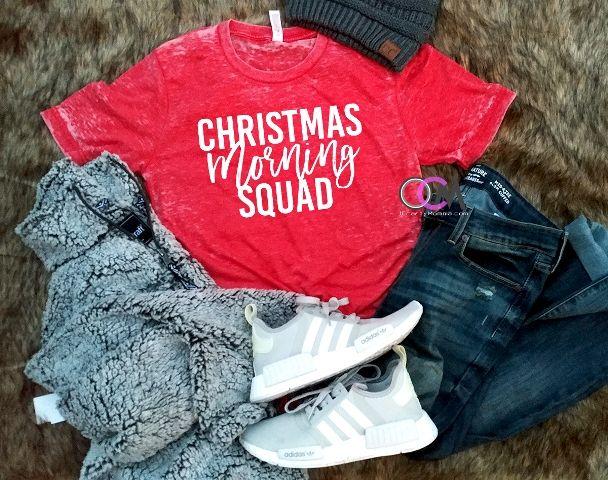 babcc3a91ebef Christmas Morning Squad Shirt, Funny Christmas Shirts, Family ...