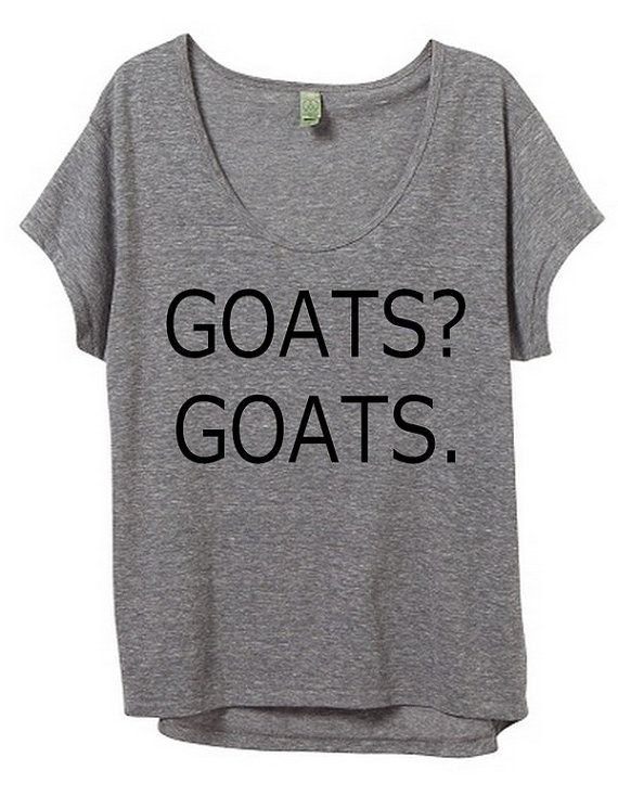 Goats? Goats. XL gray with black