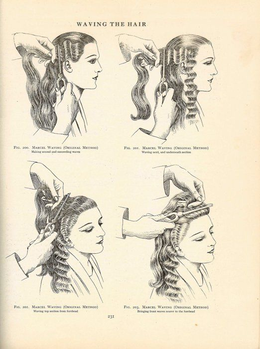 vintage hair how-to- finger waves. This is the go to style in the 30s, 40s and early to mid 50s. ONDAS MARCEL