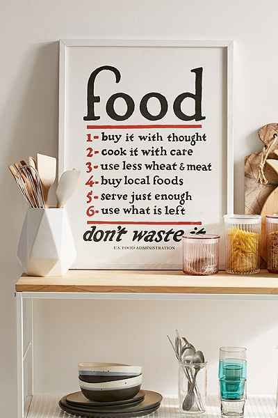 Lettered & Lined Food Rules Art Print