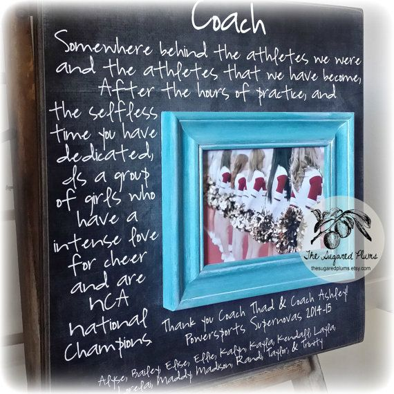 Custom Coach Picture Frame Gift Cheer Coach by thesugaredplums