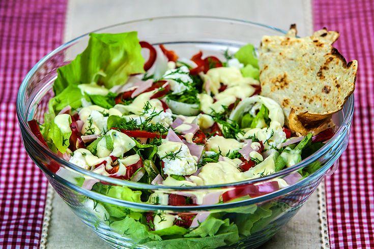 Salata verde cu sunca presata